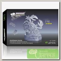 '3D Puzzle' Магический кристалл 'Знаки Зодиака' со светом Рак 41 элемент