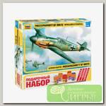 'ZVEZDA' Набор №36 для моделирования подарочный 4802П Немецкий истребитель «Мессершмитт» BF-109 F2 1/48