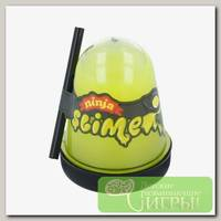 'Slime 'Ninja' Лизун Желтый, светится в темноте
