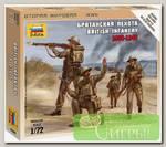 'ZVEZDA' Сборные фигурки №01 6166 Британская пехота 1/72