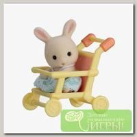 'Sylvanian Families' Набор 'Младенец в пластиковом сундучке ' кролик в коляске