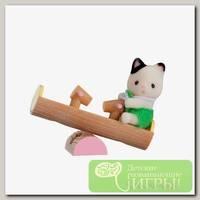 'Sylvanian Families' Набор 'Младенец в пластиковом сундучке ' котенок на качелях