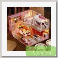 Интерьер в миниатюре 'Happy Home' 'Розовая безмятежность' 24,5х20,5х15,6 см
