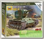 'ZVEZDA' Модель для сборки без клея №02 6202 Советский тяжелый танк КВ-2 1/100