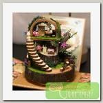 Интерьер в миниатюре 'Happy Home' 'Фантастический лес' 8,4х8,4х10,2 см