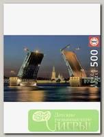 'EDUCA' Пазл №15 500 элемент. 'Развод Дворцового моста в Санкт-Петербурге'