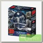 'Prime 3D' Пазл Super 3D 500 элемент. 'Коллаж 'Волки' лиц. Lisa Parker