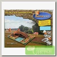 'KERANOVA' Конструктор из обожженной глины СК №2 Мост Леонардо 650 элемент.