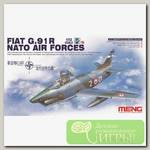 'MENG' DS-004s 'самолёт' FIAT G.91R NATO AIR FORCES 1/72