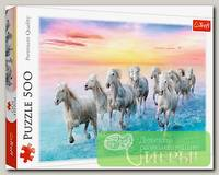 'Trefl' Пазл 500 элемент. 'Белые лошади в галопе'