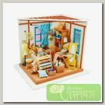 Интерьер в миниатюре 'DIY House' 'Ателье' 22.5 x 18.5 x 19 см DG101 1/43