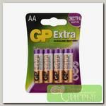 'GP' Элемент питания 4 шт в блистере 15AX-2CR4 AA Extra 40/320