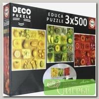 'EDUCA' Пазл 3х500 деталей 1500 элемент. 'Три цвета. Андреа Тилк'