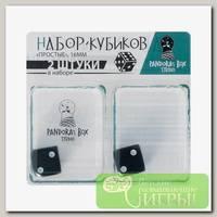 'Пандора Бокс Студио' Набор кубиков 'Простые' 16 мм 2 шт. 02KG300 Черный