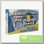 'MENG' 'ограждение' Barricades & Highway Guardrail set 1/35